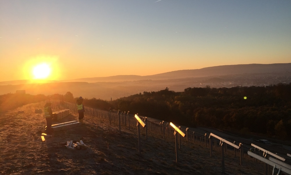 Baubeginn Solarpark Deponie Brandholz
