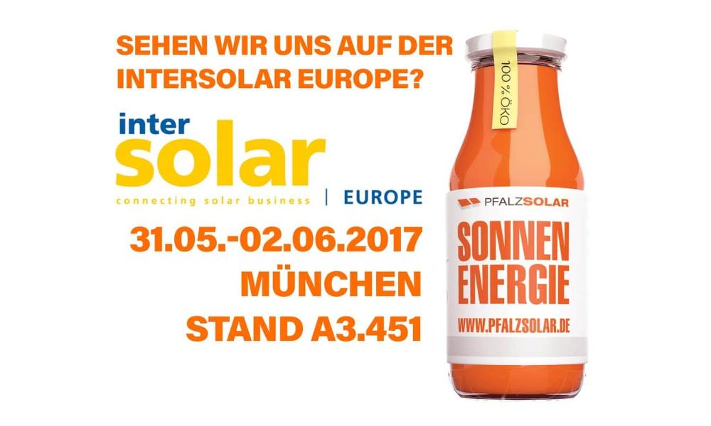 Treffen Sie uns auf der Intersolar Europe!