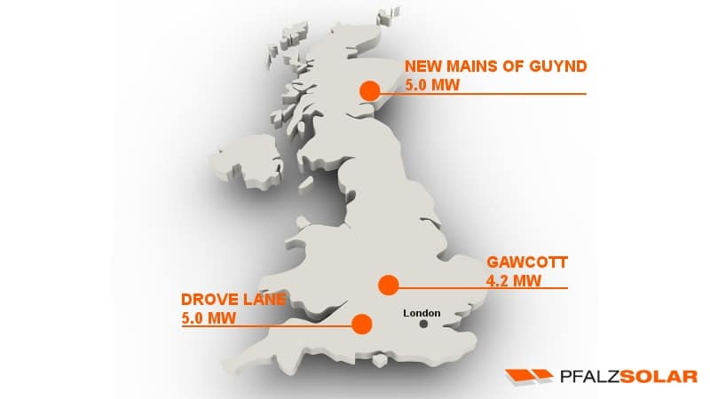 PFALZSOLAR completes three large scale pv projects in uk