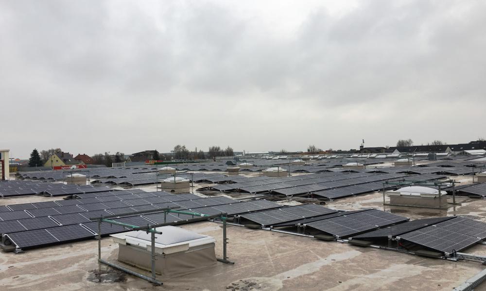 PV Anlage auf Baumarkt in Grünstadt 386 kWp